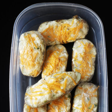 frozen stuffed potatoes in box