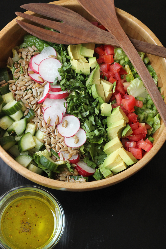 Chopped Salad with Avocado and Radish