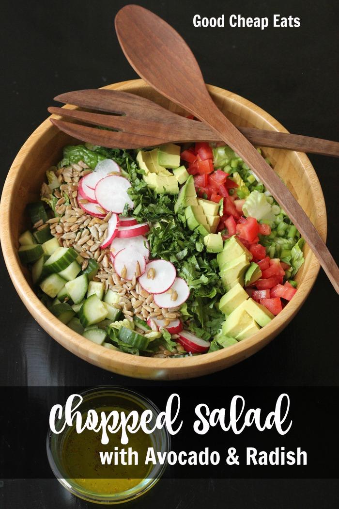 Chopped Salad with Avocado and Radish