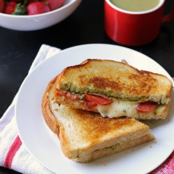 cup of soup and grilled cheese sandwich