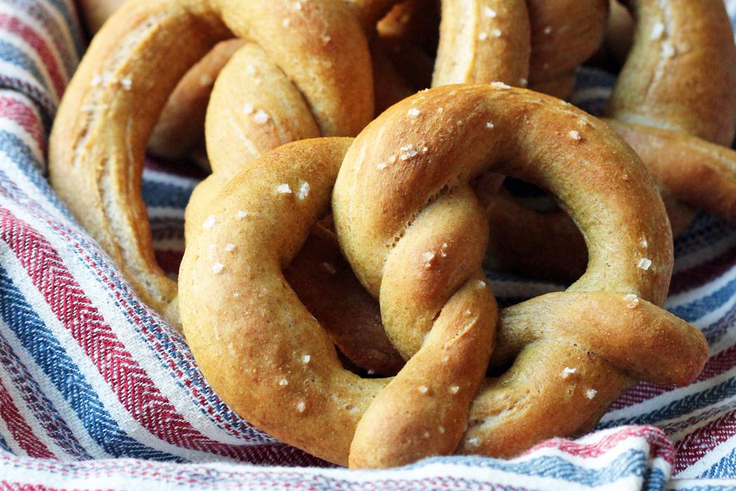 Whole Wheat Soft Pretzels