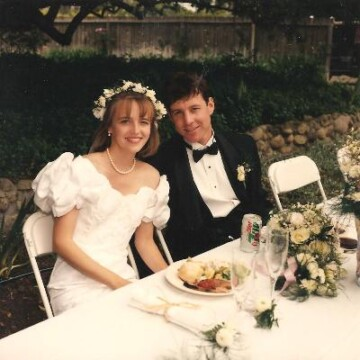 Bryan and Jessica at their wedding