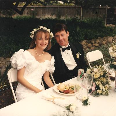 Jessica and Bryan at their wedding