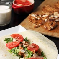 Buffalo Chicken Wraps with Blue Cheese Dressing