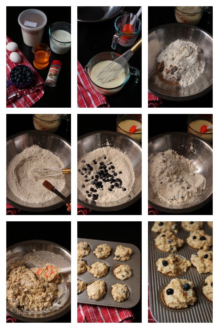 step by step photos of how to make these muffins