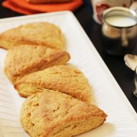 Pumpkin Spice Scones on a plate
