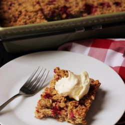 Raspberry Baked Oatmeal (Freezer-Friendly)