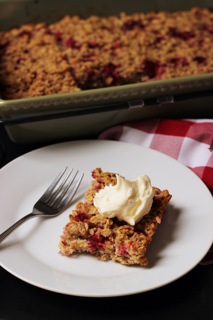 Raspberry Baked Oatmeal | Good Cheap Eats