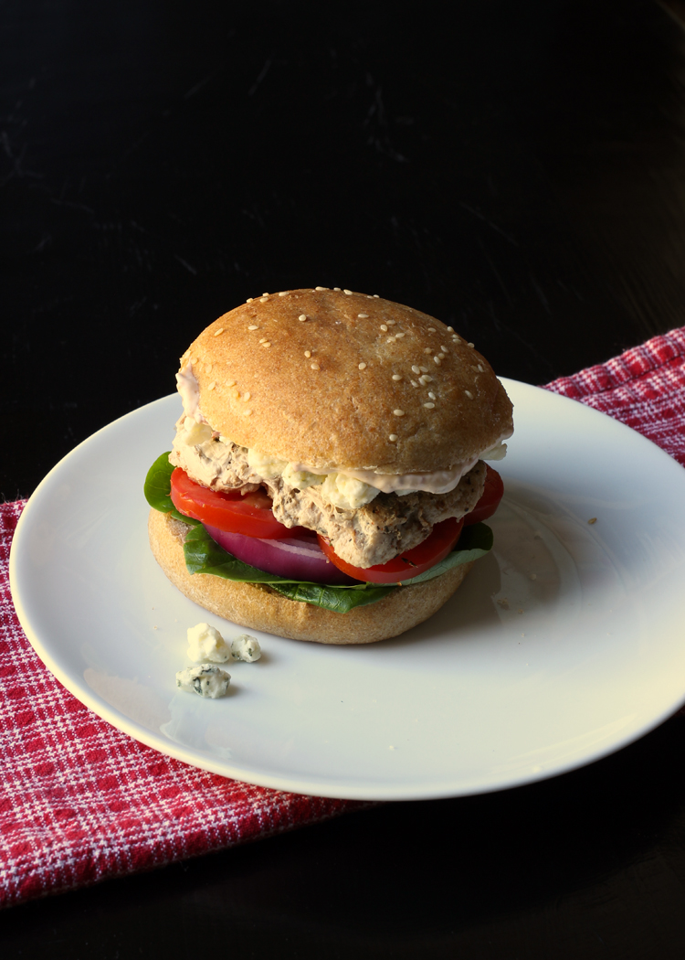 Turkey burger on a plate