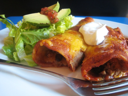 Turkey and Black Bean Enchiladas 2