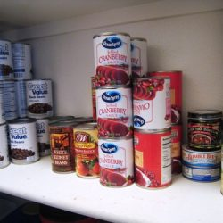 canned goods pantry