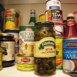 condiments shelf