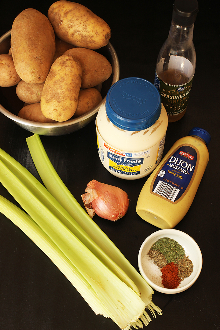 ingredients for deli potato salad