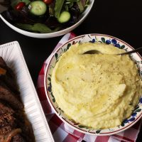 alfredo mashed potatoes pot roast and salad