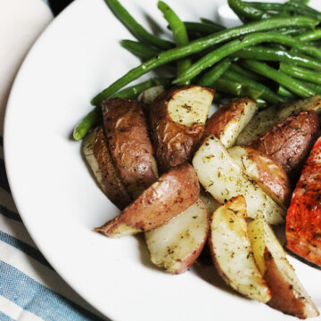 potatoes and green beans on plate