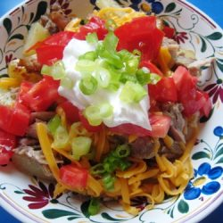 potato nachos in a bowl