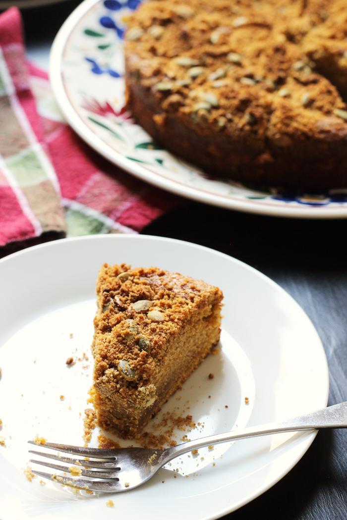 Pumpkin Coffeecake with Pepitas | Good Cheap Eats