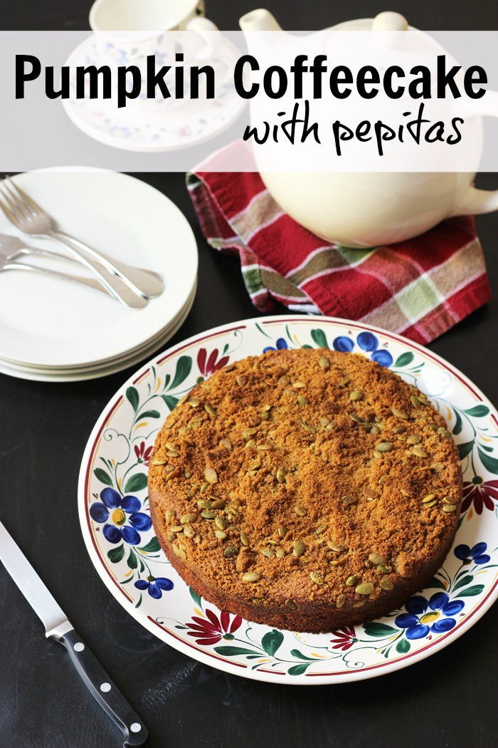 Pumpkin Coffeecake with Pepitas from Good Cheap Eats