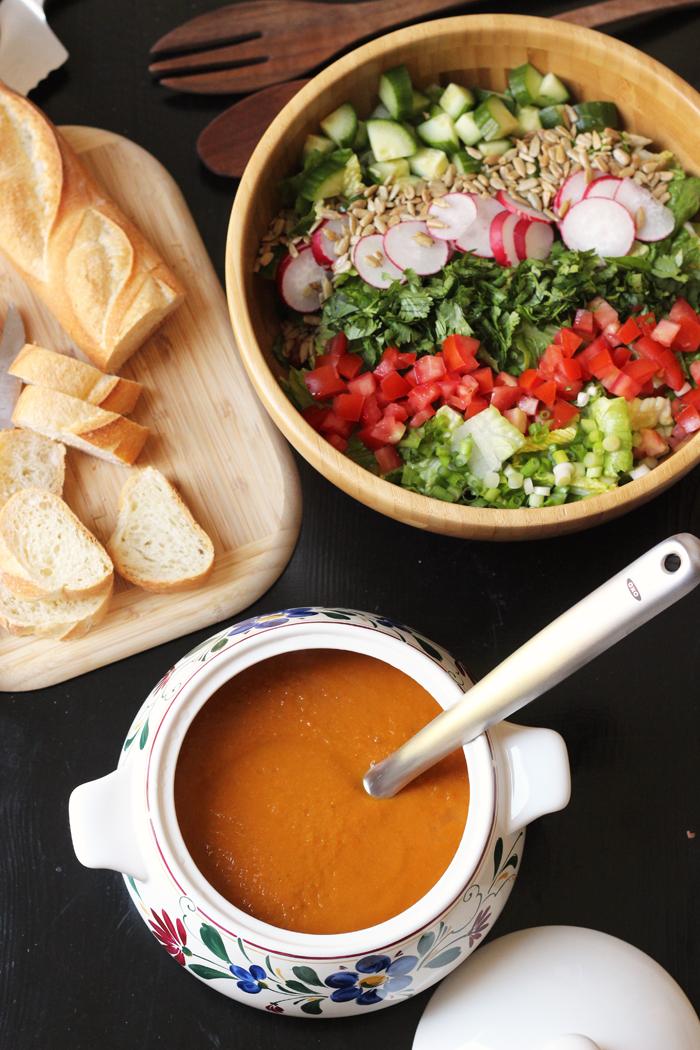 Roasted Vegetable Soup with Fresh Oregano | Good Cheap Eats