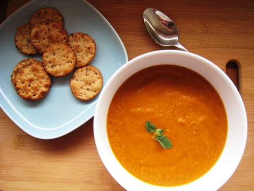 Roasted Vegetable Soup Recipe — Dishmaps