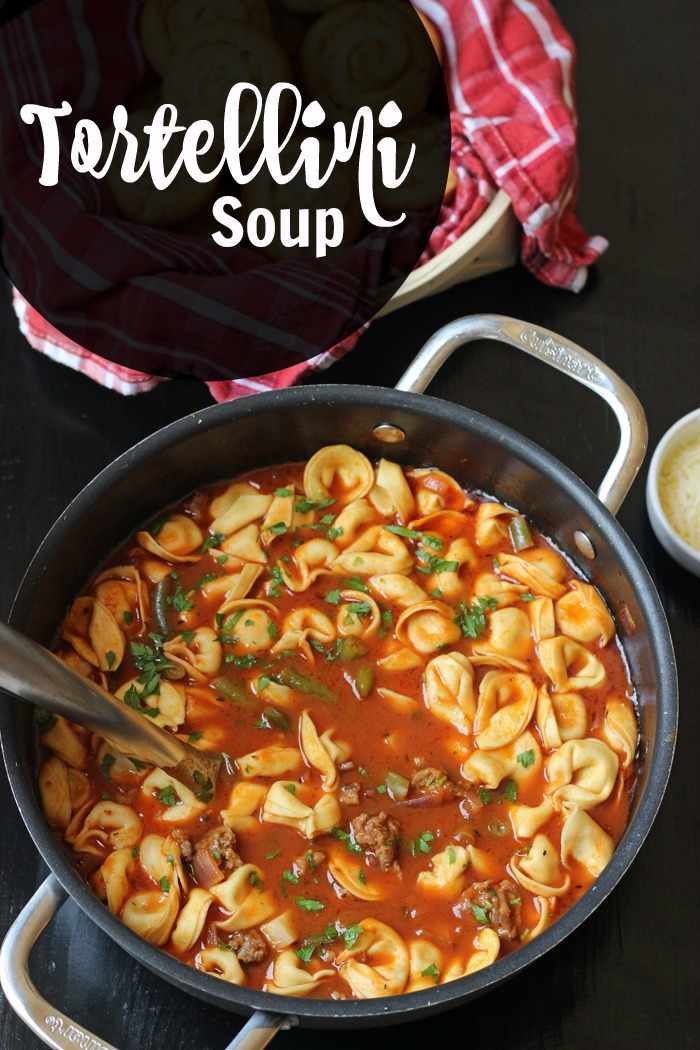 Tortellini Soup with Sausage and Vegetables | Good Cheap Eats