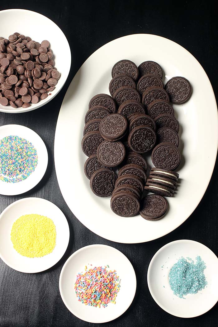 ingredients for chocolate dipped oreos