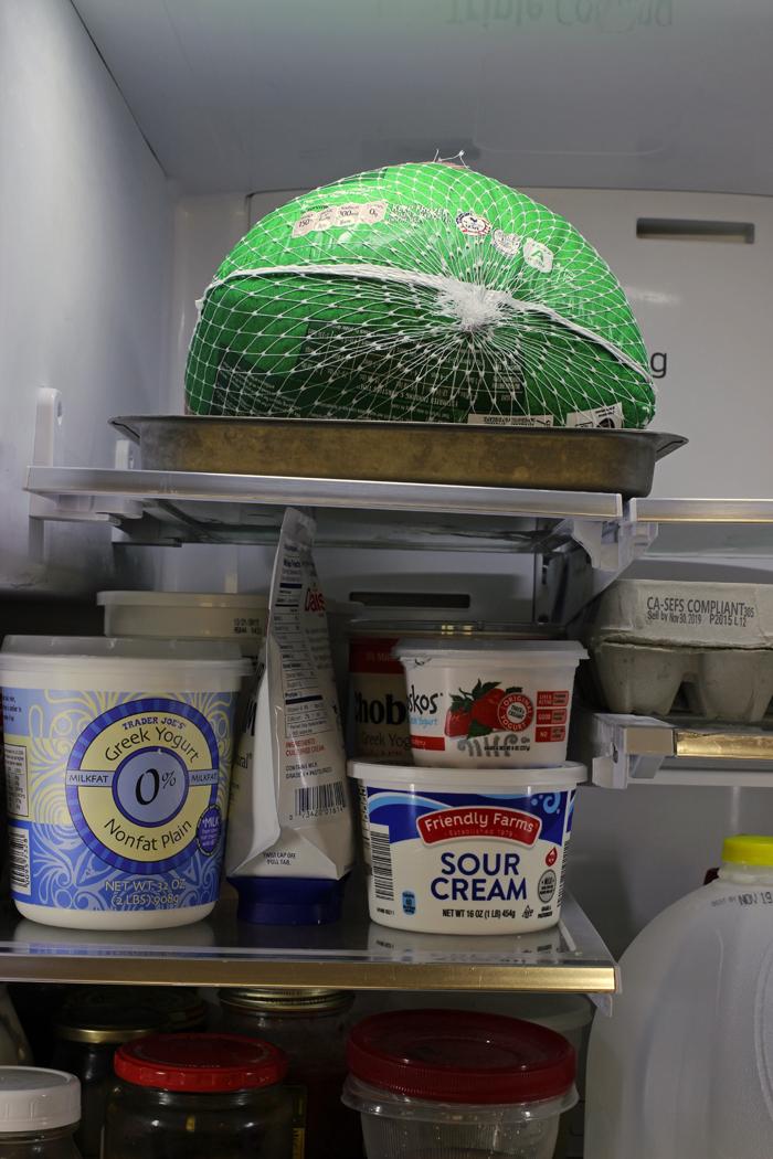 thawing turkey in refrigerator