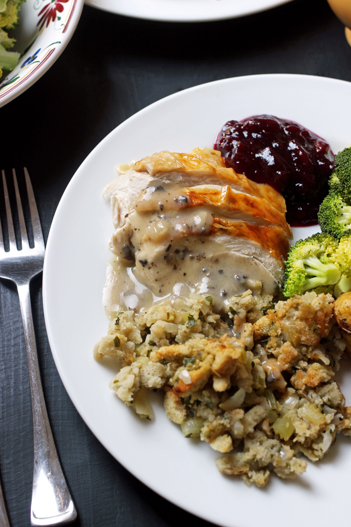 turkey dinner plate with sides