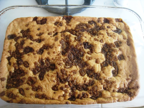 a pan of snickerdoodle bars