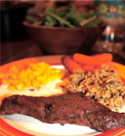A plate of food, with Venison and Game