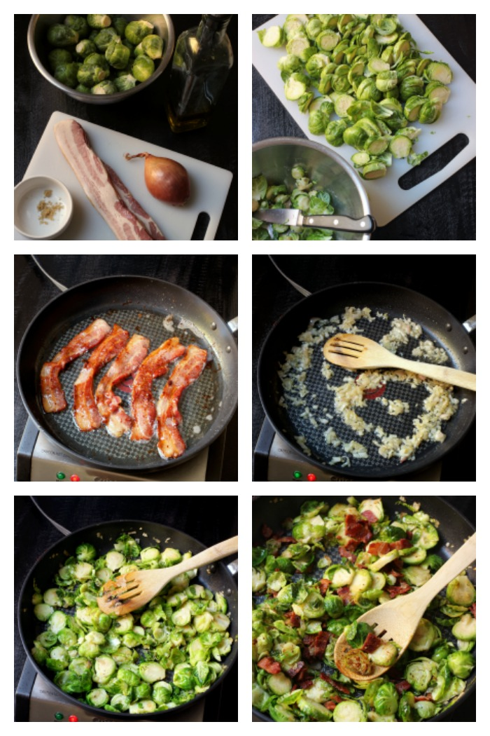 step-by-step process of making brussels sprouts