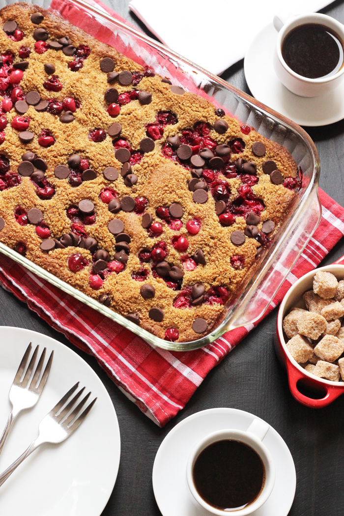 Cranberry Chocolate Chip Snack Cake