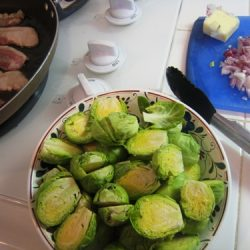 brussels sprouts mise en place