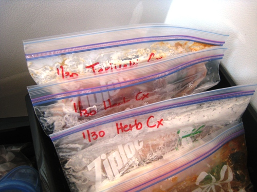 freezer meals marked