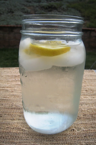 glass of water sideview