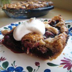 Berry Pie with cream