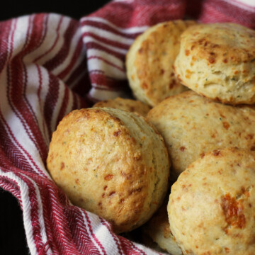 Cheese and Herb Biscuits in basket