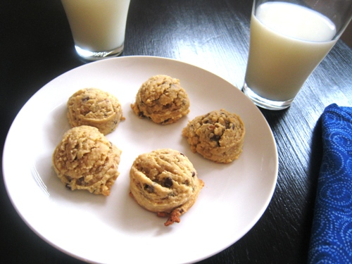 crunchy chocolate chip cookie with coconut and walnuts added in for ...