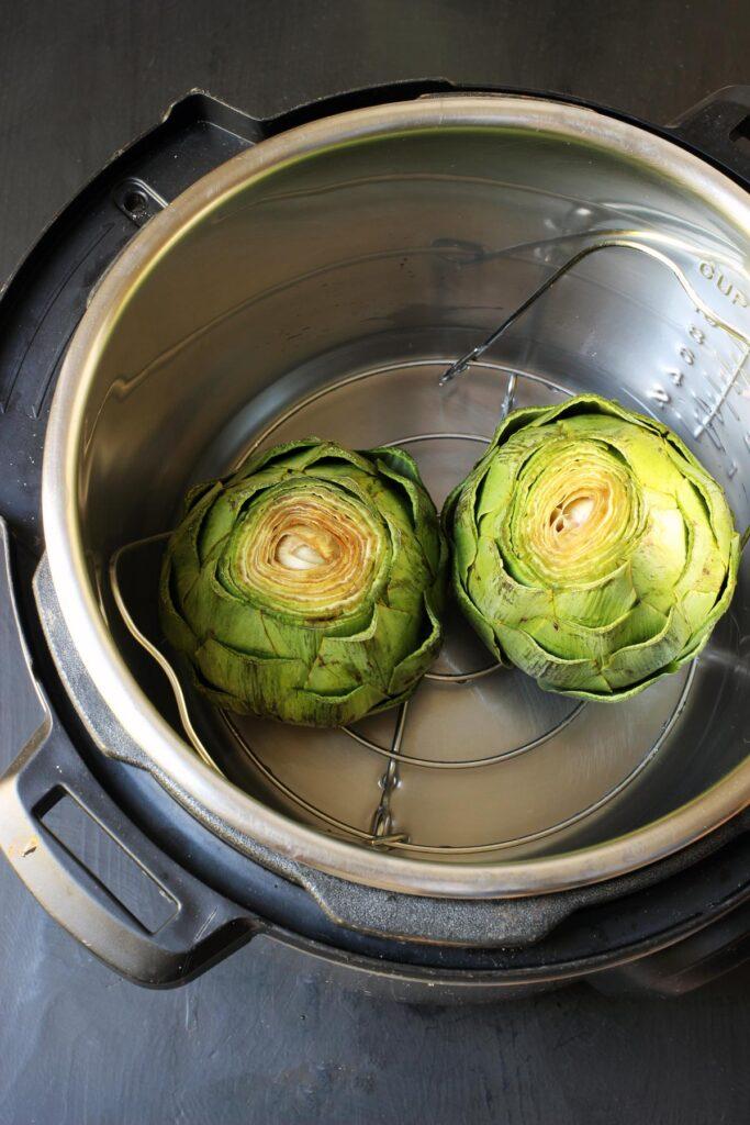 artichokes in pressure cooker