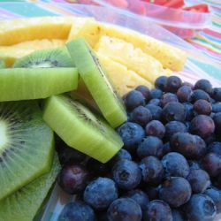 Family picnic fruit plate