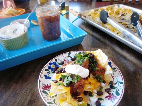nacho ingredients on table