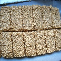 coconut millet snack bars