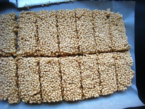millet bars cut into pieces