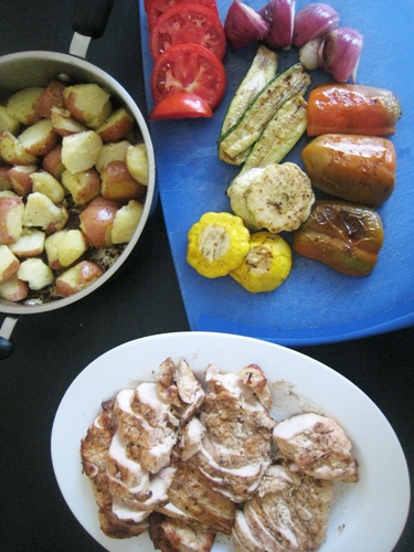 mixed grill with chicken