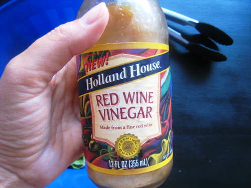reusing a vinegar bottle for making dressing