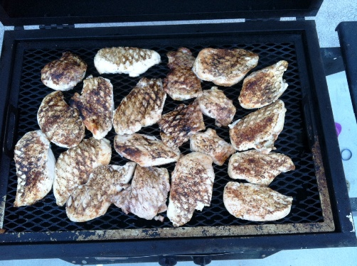 Grilled Chicken for the Freezer