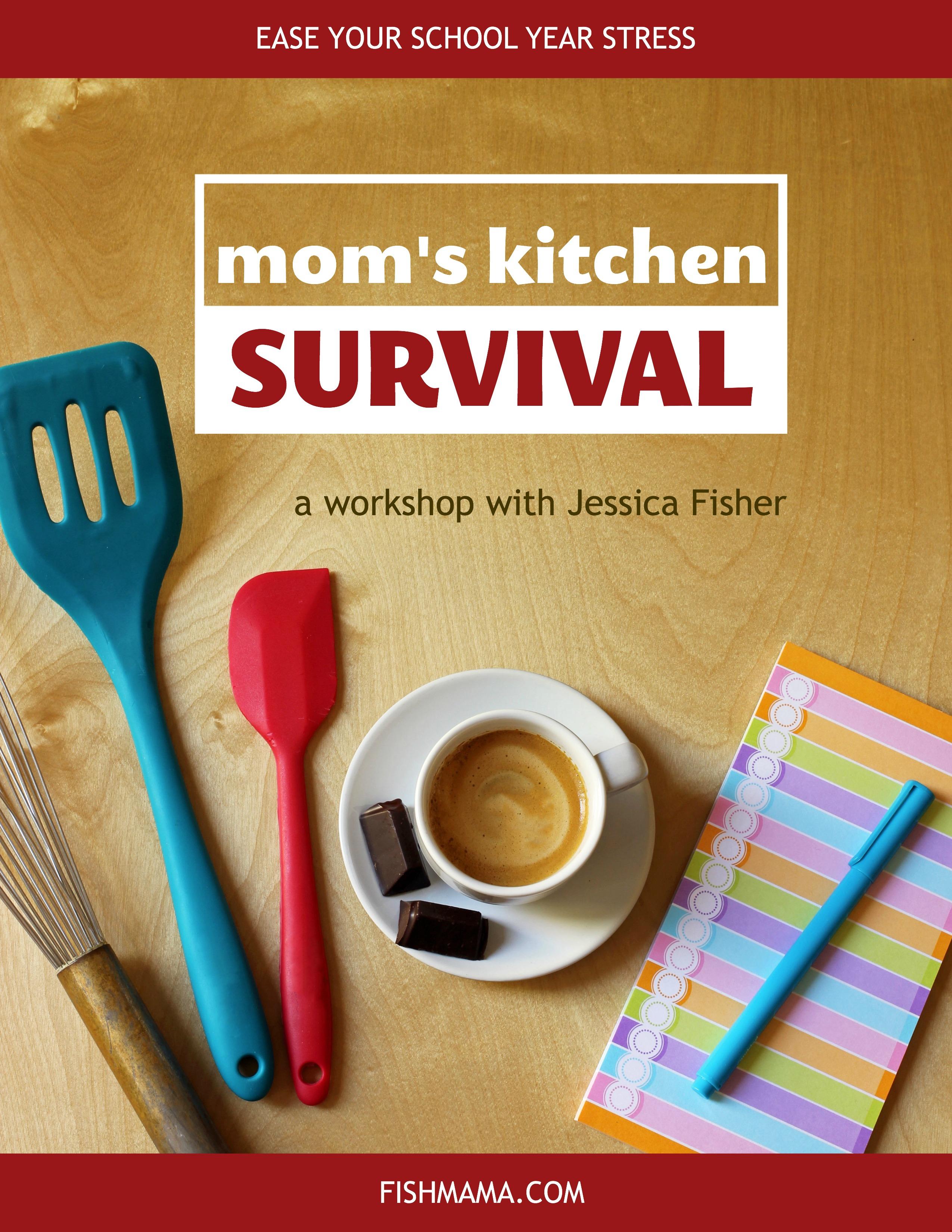 banner ad for kitchen survival workshop