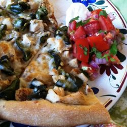 poblano chicken pizza