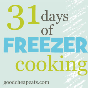 31 Days of Freezer Cooking - Fill your freezer so that you can save time and money. Here's a huge round up of tips, tricks, and recipes.