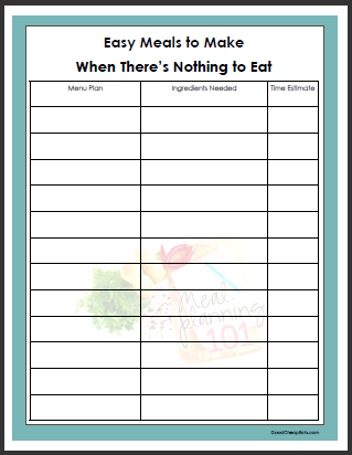 "Meal Planning 101: 12 Easy Meals to Make When There's ""Nothing"" to Eat 